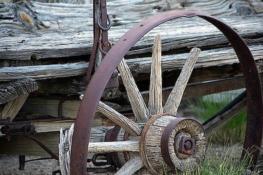 Old Western Wagon by Lu Prescott