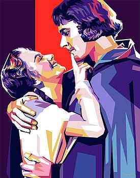 Olivia de Havilland and Errol Flynn by Stars on Art
