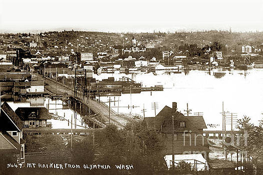 California Views Archives Mr Pat Hathaway Archives - Olympia from around 1904, looking across the Fourth Avenue Bridge over the mouth of the Deschutes Ri