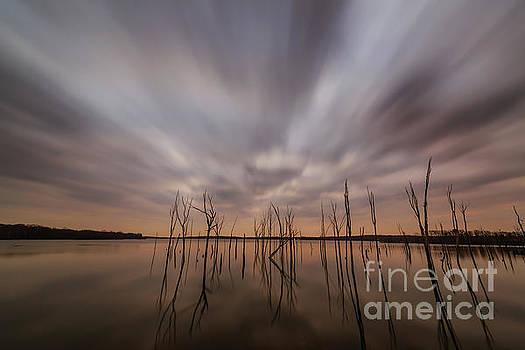 Ominous Manasquan Reservoir  by Michael Ver Sprill