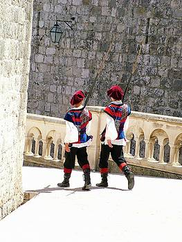 On Patrol In Dubrovnik by Joseph Hendrix