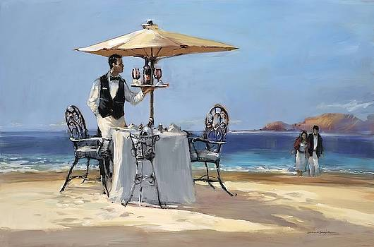 On the Beach Wall Art by Brent Heighton