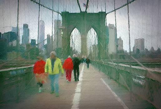 On The Brooklyn Bridge by Robert Meyerson
