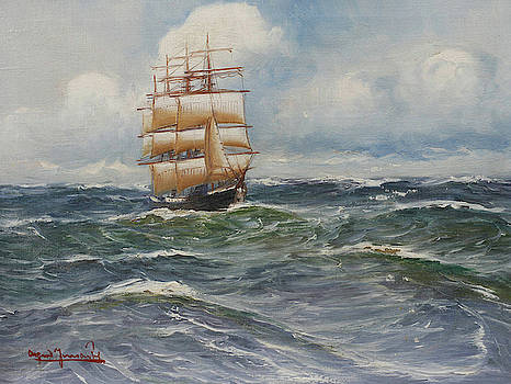 On The Sea by Alfred Jensen