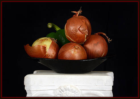 Onion Still Life by Constance Lowery