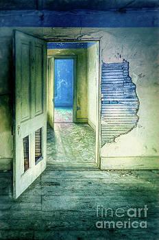 Open Doors in Abandoned House by Jill Battaglia