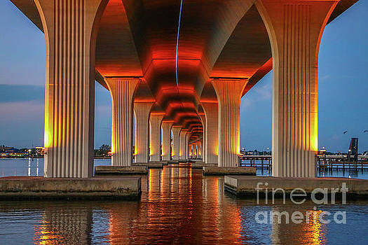 Tom Claud - Orange Light Bridge Reflection