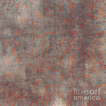 Orange Rose Velvet by Priscilla Wolfe