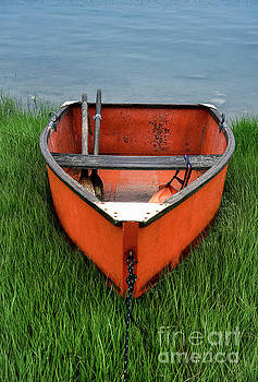 Orange Rowboat by John Greim