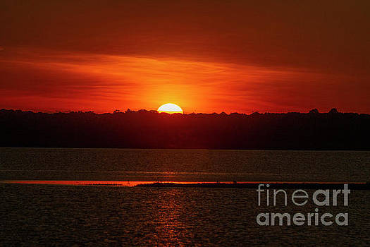 Orange Sundown by Sharon Mayhak