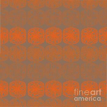 Orange Surfer Seamless Pattern by Priscilla Wolfe