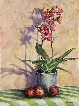 Orchids and Plums by Jolante Hesse