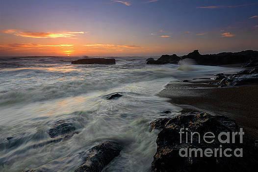 Oregon Coast Sunset by Mike Dawson