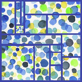 Irina Sztukowski - Organic Polka Dots Blocks Abstract Watercolor