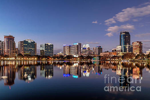 Orlando Skyline at Sunrise by John Greim