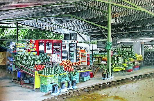 Ortina Fruit Stand, Costa Rica by Suzahn King