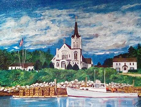 Our Lady Queen of Peace Church, Booth Bay Harbor, Maine by Dominique Derenne