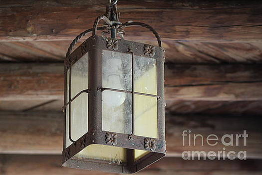 Outdoor Lamp at Fort Stanton New Mexico by Colleen Cornelius