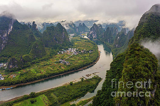 Over China Xianggong Hill Misty Peaks by Mike Reid