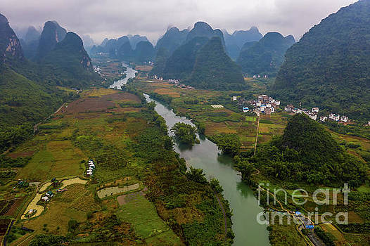 Over China Yulong River Runs Through by Mike Reid