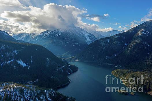 Over Diablo Lake Cloudscape by Mike Reid