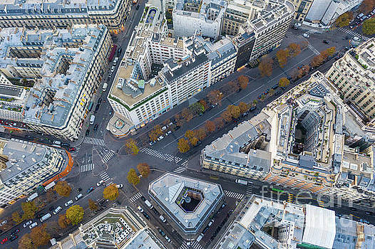 Over Paris 8th Arrondissement Fall Colors by Mike Reid