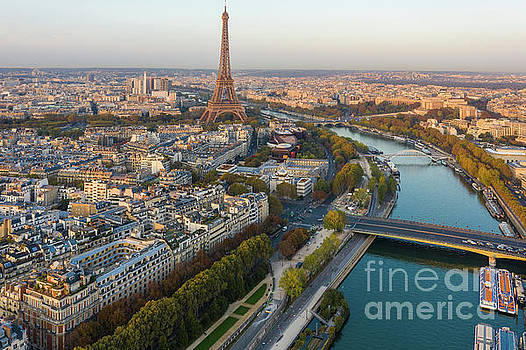 Over Paris Fall Colors and Morning Light Along the Seine by Mike Reid