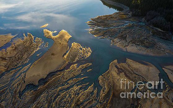 Over the Northwest Golden Delta Light by Mike Reid