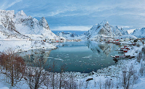 Overlooking Reine, Norway  by Jerry Fornarotto