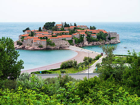 Overlooking Sveti Stefan by Rae Tucker