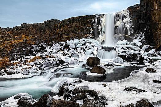 Oxarafoss Winter by Jamie Pham