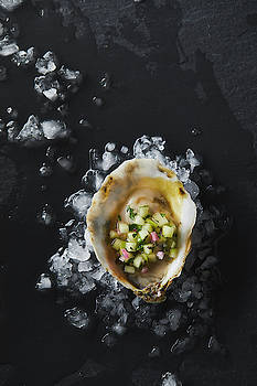 Oyster on the half shell by Cuisine at Home
