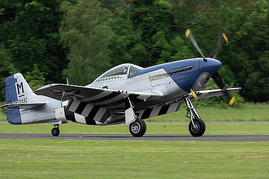 P-51D Mustang preparing for takeoff by Scott Lyons