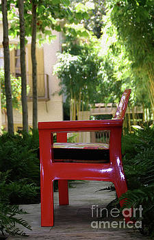 Painted Red Chair by Skip Willits