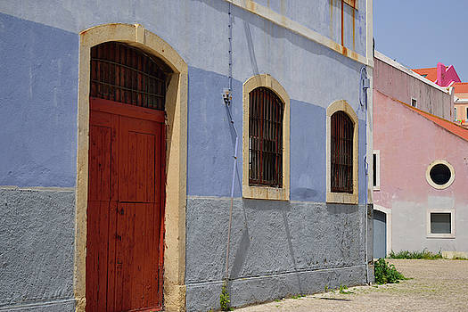 Painted Warehouses in Lisbon by Kathy Yates