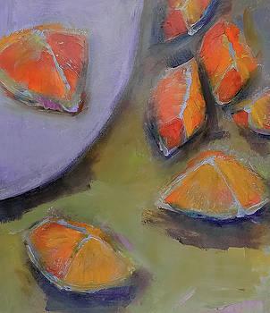 Painterly Orange Slice by Lisa Kaiser