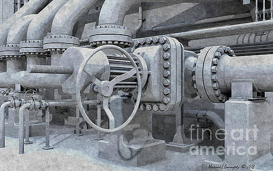 Painterly Pipework  - AMCG20181230 by Michael Geraghty