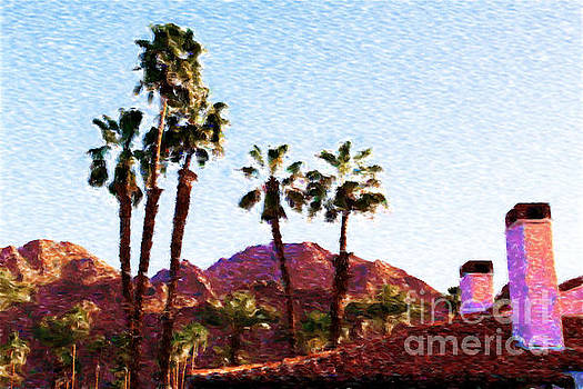 Palms Mountains and Rooftops by Katherine Erickson