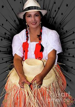 Panama Hat Poster Lady II by Al Bourassa