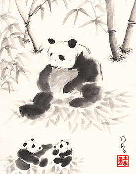 Panda Family by Derek Motonaga