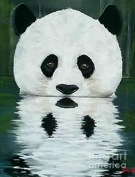 Panda Reflection  by Danett Britt