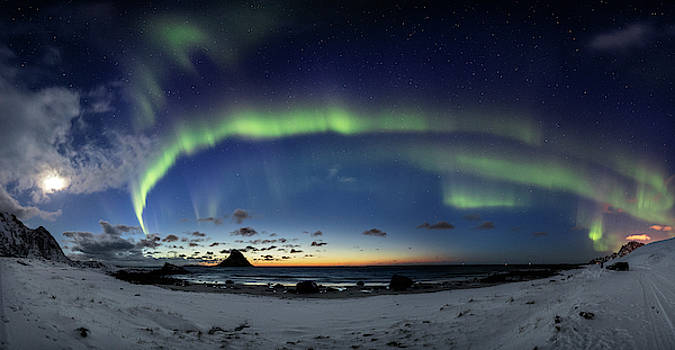 Panorama at Bleik by Frank Olsen