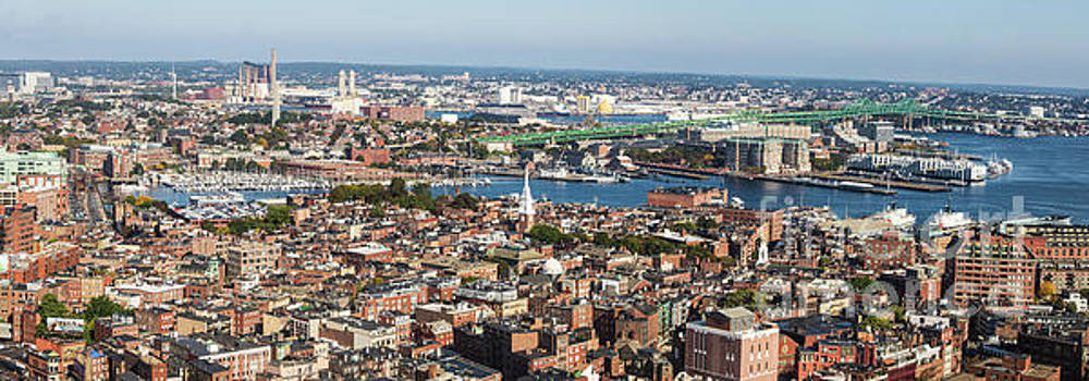 Panorama of Boston North End and Tobin Bridge  by Thomas Marchessault