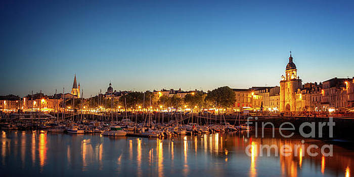 Panorama of La Rochelle at night  by Delphimages Photo Creations