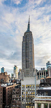 Panorama of North Face of the Empire State Building and Garment District Buildings by Thomas Marchessault