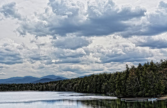Panoramic Adirondack River View by Maggy Marsh