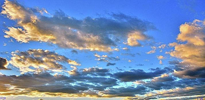 Panoramic Clouds by Lisa Wooten