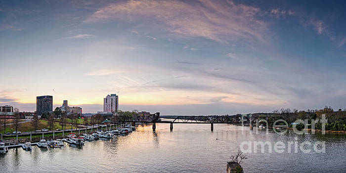 Panoramic Sunset View of Savannah River at Augusta - Georgia by Silvio Ligutti