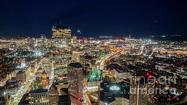 Panoramic View of the Boston Night Life by PorqueNo Studios