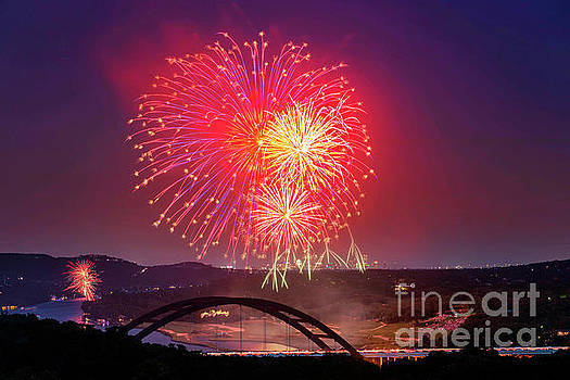 Herronstock Prints - Panoramic view watching the 4th of July fireworks from the 360 P